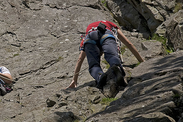 rock climbing at Glaramara