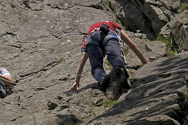rock climbing at Glaramara